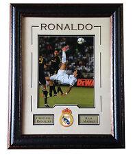 Cristiano Ronaldo Real Madrid 11x14 framed bike kick photo patch soccer