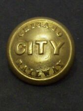 Antique Chicago City Railway Uniform Button Railroad Streetcars Old Vtg CCRY