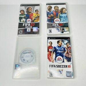 Sony PSP Fifa Soccer 07 08 09 10 Lot Bundle 4 Games With Manuals