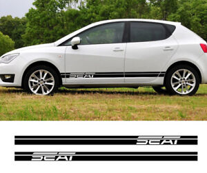 Side Skirt Sticker Racing Sport Stripes For Seat Alhambra Ibiza Leon Car Tuning