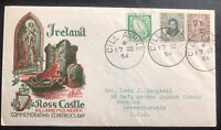 1954 Killarney Ireland First Day Cover FDC To Seekonk MA USA Ross Castle