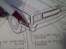1968 AMC RAMBLER REBEL RIGHT FRONT FENDER MOULDING NOS