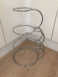 4 Tier Wedding Cake Stand Metal Silver Arched Support