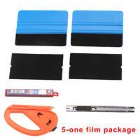 Car Wrap Vinyl Tools 6 Film Wrapping Carbon Fibre Felt Squeegee Safety Razor UK