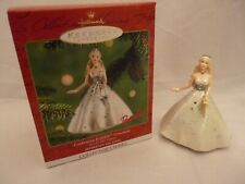 2001 Celebration Barbie Collector Series Hallmark Keepsake Ornament - Nib !