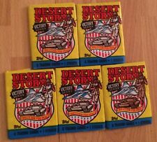 Lot Of (5) 1991 Topps Desert Storm Iraq War Persian Gulf Trading Cards Wax Packs