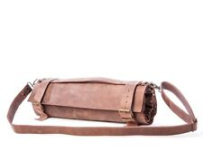NEW 100% Real Leather Knife Roll, Chefs Bag