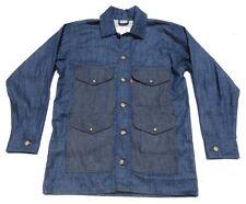 Mens FILSON X LEVIS Raw Indigo Denim Cruiser Chore Work Coat Jacket Medium USA