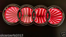 RED Logo Light  AUDI A3 A4 A6 A5 Badge Light Auto Led Emblem 3d shelf Adhesive