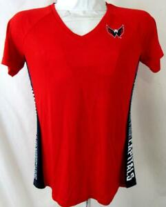 Washington Capitals Women Small Short Sleeve Screened Hands High T-shirt ACAP 65