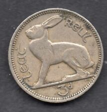 Ireland Eire 3d Irish Eire threepence Hare Coin 1942 RARE Key Date