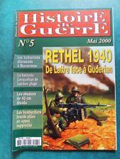 Histoire de Guerre n°5 Rethel 1940 14e DI de Lattre 8e BCC chars B1 bis tanks