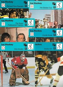 1977 1978 1979 SPORTSCASTER HOCKEY NHL WHA CARD PRINTED IN JAPAN ITALY SEE LIST