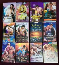 12 romantische/ historische - Liebesromane - Sammlung - Konvolut -