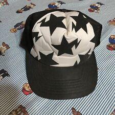 BAPE A Bathing Ape Classics Felt Stars Logo Trucker Hat Cap Black White Snapback