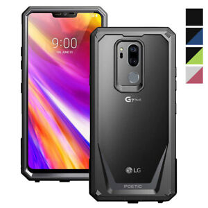 LG G7 ThinQ Cell Phone Case Poetic® Shockproof Cover [With Free Tempered Glass]
