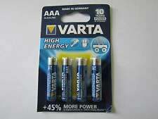 12x AAA High Energy Batterie Alkali-Mangan LR03 1260mAh 1,5V Varta AR1283