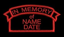 Embroidered Personalised Memorial Patch Badge in Memory of Any Colour Custom RIP