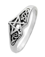 Sterling Silver Celtic Knot Pentacle Pentagram Ring Wicca Pagan Jewelry sz 4-15