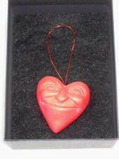 HoyPoloi Disney Boardwalk Red Hanging Heart Face Art Clay Sculpture Figure 1.75""