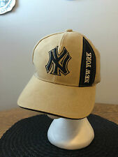 NEW YORK Yankees NY Baseball Hat Beige and Black CASUAL 100% Cotton