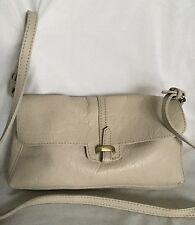 ZARA BASIC Beige Leather Clutch/Cross Body/Shoulder Bag / Handbag