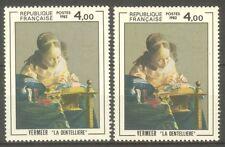 "FRANCE STAMP TIMBRE N° 2231 "" DENTELLIERE DE VERMEER , 2 COULEURS "" NEUFS xx TTB"
