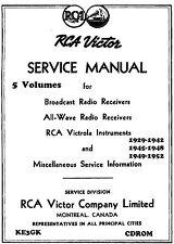 Rca Victor Canada Schematics * Volumes 1 thru 5 * Cdrom * Pdf