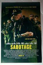 SABOTAGE SCHWARZENEGGER WORTHINGTON MANGANIELLO TERRENCE HOL MOVIE 11x17 POSTER
