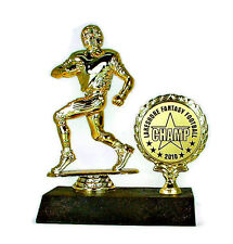 Football Runner Trophy #2- Fantasy Award- Desktop Series- Free Lettering