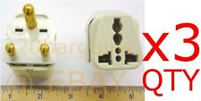 3Pk. South Africa Travel Plug Adapter For Type M BS546 Electrical outlet