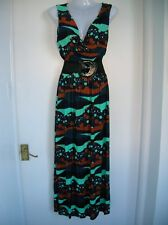 NEW WITH TAGS LOVELY SIZE ML 10 12 MAXI DRESS SUMMER HOLIDAY CRUISE PARTY NIGHTS
