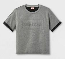 Boys Hunter For Target T-Shirt, Grey With Black Trim - Xs 4/5 - New