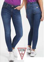 Guess Curve X Stretch Skinny Mid Waist Jeans Denim Blue (09) -RRP 89.99 Bargain!