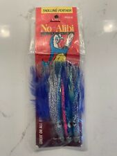N.O.S.  No Alibi Bait Feather 3 Pk BL/Sil/pink