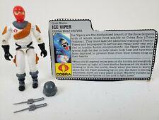 *GI Joe Ice Viper 100% complete w/ filecard Cobra Wolf Driver 1987*