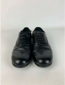 Dolce Gabbana Men's Black Leather Lace Up Flat Shoes - Size UK 7