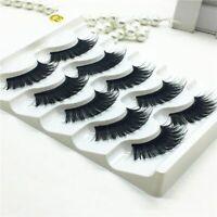 5 PairsMink 3D Volume Corner Thick Eyelashes False Strip Lashes False Eyelashes-