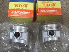 KAWASAKI NOS PISTONS (2) STD SIZE 13001-077 / -1086 Z750 KZ750 Twins 1976-84