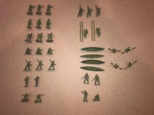 Airfix HO/OO 1/72 Scale Vintage WWII British Commandos Type 2 [01732] Full Set