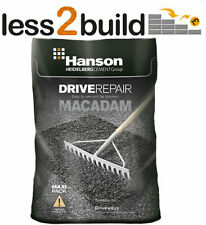 25KG HANSON TARMAC COLD LAY MACADAM ASPHALT POT HOLE REPAIR ROAD PATH CAR PARK