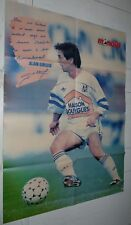 FOOTBALL MONDIAL 1987 POSTER ALAIN GIRESSE OLYMPIQUE MARSEILLE OM FRANCE ESPOIRS