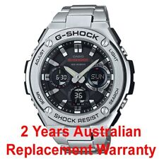 CASIO G-SHOCK G-STEEL SOLAR MEN WATCH GST-S110D-1A BLACK GST-S110D-1ADR SS BAND
