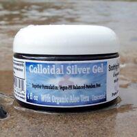 Superior Colloidal Silver Gel & Organic Aloe Vera BIG 4 Oz. Jar 100 ppm
