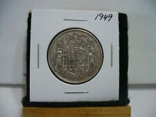 1949  CANADA  SILVER  HALF  DOLLAR  50 CENT PIECE   49        SEE PHOTOS