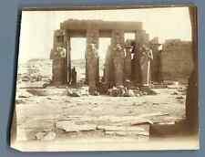 Egypte, Temple de Ramsès II, Thèbes Vintage silver print. Tirage argentique d&