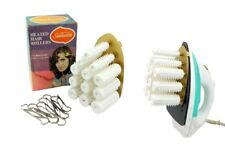 Vintage Sunbeam Heated Hair Rollers 12 Roller + Clips Heat on Iron Curler Set