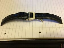 IWC STAINLESS STEEL DEPLOYMENT CLASP & IWC BLACK LEATHER STRAP-20MM-NEAR MINT