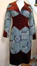 Vintage 1970s Boho Chic Tapestry Velvet Coat and Pants
