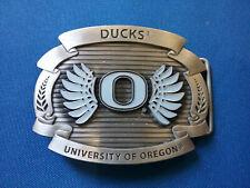 New listing University of Oregon DUCKS METAL BELT BUCKLE, Ferns and Wings design